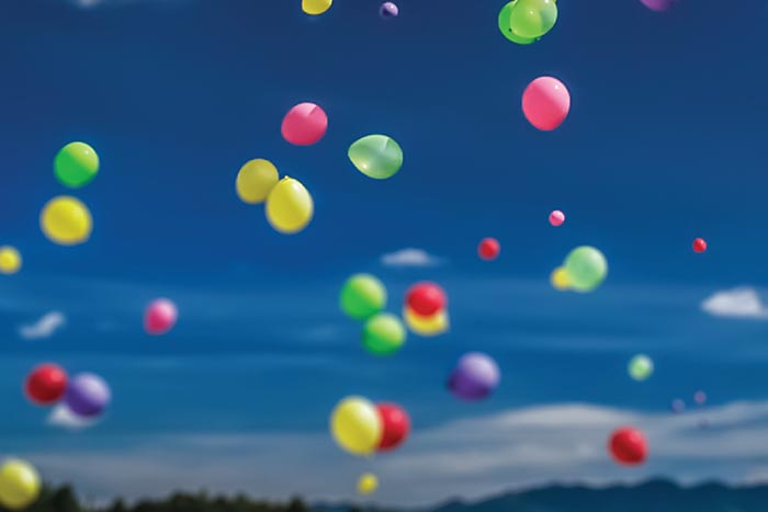 Funeral Balloon Release